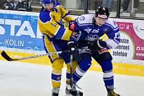 Z utkání play off II.NHL Kolín - Nymburk (8:3).