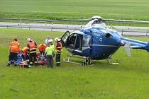 Dopravní nehoda motorkáře 17. května 2013