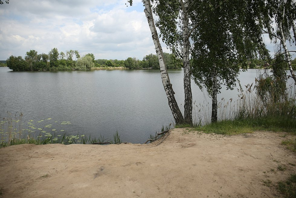 Písník Sandberk u Kolína.