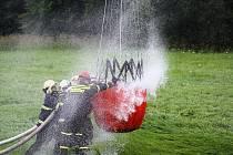 Z hasičského cvičení