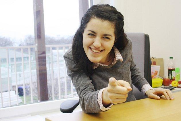 Zahraniční stážistka Fabiola Diana Demian zRumunska, která nyní působí vProstor plus o.p.s.