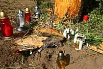 Místo smrtelné dopravní nehody u Bylan v neděli 30. května.