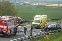 Těžká dopravní nehoda na obchvatu Kolína 1. května 2019