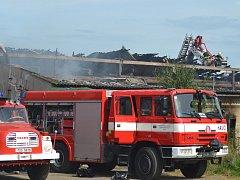 Požár vepřína v Dolních Chvatlinách