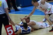 Ze třetího semifinálového utkání Nymburk - BC Kolín (96:63).