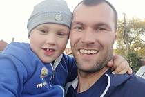 Adam Javůrek se synem Danielem.