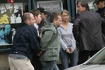 Natáčení detektivního seriálu Kriminálka Anděl v Kolíně. 27.5. 2009