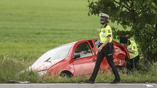 Dopravní nehoda u Veltrub v pátek 15. května 2020.