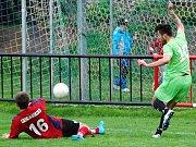 Z utkání Radim - Lysá nad Labem (1:5).