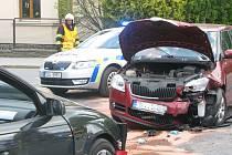Dopravní nehoda na průtahu Kolínem