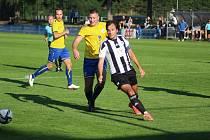 Z divizního fotbalového utkání Kolín - Tochovice