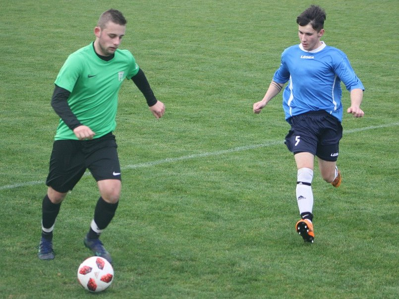 Z utkání Krakovany - Nučice (0:0, PK 4:5).