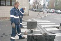 Oprava parovodu na křižovatce u Úřadu práce