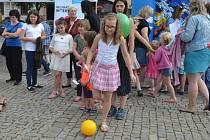 Děti soutěžily na Karlově náměstí