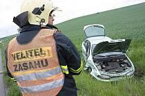 Nehoda osobního a nákladního automobilu