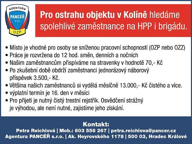 Pro ostrahu objektu v Kolíně hledáme spolehlivé zaměstnance na HPP i brigádu.