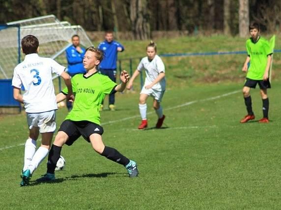 Z utkání žáků FK Kolín U14 - Benešov (0:2).