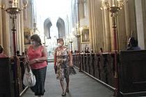 Z rozloučení s varhanami v chrámu sv. Bartoloměje v Kolíně.