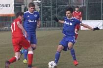 Z utkání I. A třídy Velim - Český Brod B (1:0).