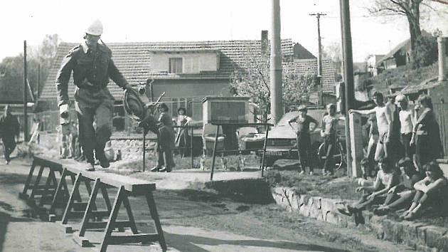 Okresová hasičská soutěž 1982 v Radovesnici I.