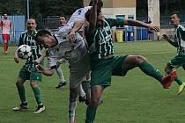 Z utkání Český Brod - Meteor Praha (1:0).