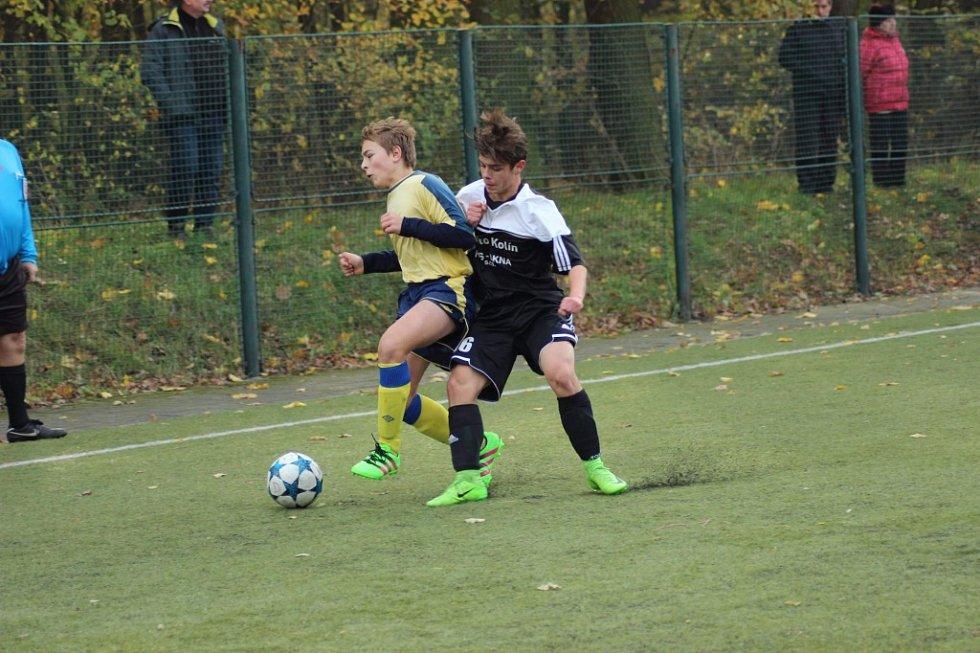 Z utkání divize mladšího dorostu FK Kolín - Benešov (4:0).