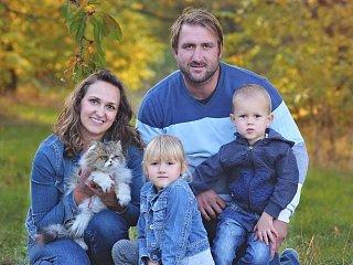 František Suchánek s rodinou.