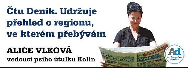 Ambasadorka Kolínského deníku Alice Vlková.