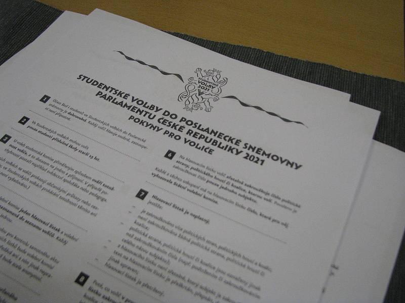Studentské volby na Gymnáziu Kolín.