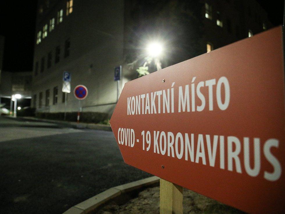 Kontaktní místo pro COVID - 19, koronavirus v Oblastní nemocnici Kolín.