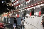 Budova Obchodní akademie Kolín prochází opravou