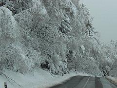Sníh. Husté sněžení. Ilustrační foto.