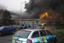Požár v Paramu Kolín. 20.12. 2008
