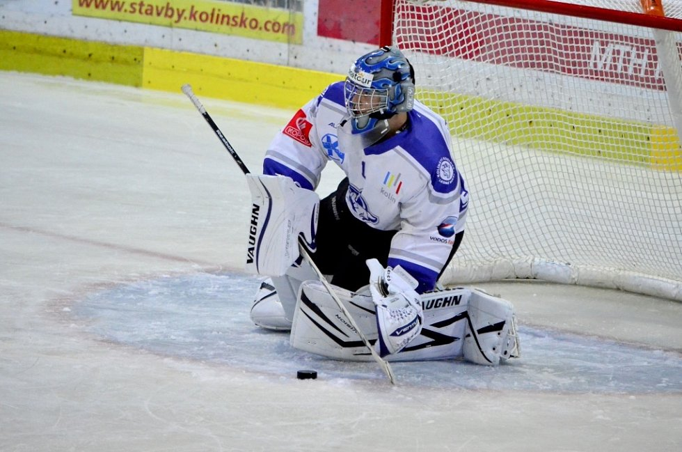 Z přípravného utkání Kolín - Vrchlabí (1:5).