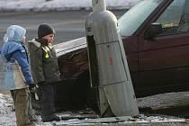 Nehoda poblíž Vodního světa Kolín