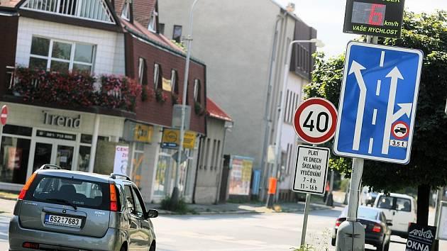 Radar v Ovčárecké ulici