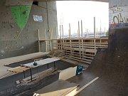 Skatepark v Kolíně by měl být hotový do konce listopadu.