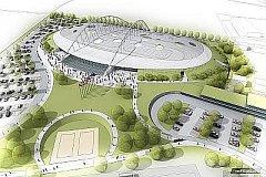 Vizualizace Národního bruslařského stadionu