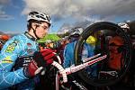 Ze 7. závodu cyklokrosového Toi Toi Cupu, který se jel v lesoparku Borky.