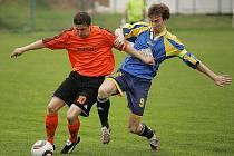 Z fotbalového zápasu krajského přeboru Polepy - Milín (8:1)