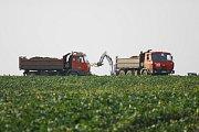 Úklid kontaminované půdy po pádu letadla