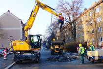Únik plynu v ulici Dukelských hrdinů