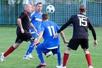 Z utkání Břežany II - Sokoleč (0:7).