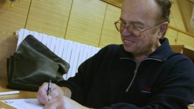 Sekretář kolínského hokejového klubu Jaromír Smeták.