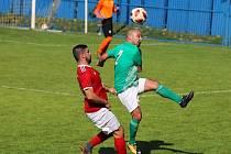 Z utkání Český Brod B (v zeleném) - Dolní Bousov (1:0).