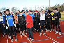 Na 52. ročníku Silvestrovského běhu se sešlo rekordních 170 běžců.