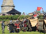 Rekonstrukce bitvy u Lipan.