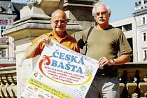 Dva duchovní otcové festivalu Česká bašta: Jiří Linka a Jaroslav Skoupý (zleva).