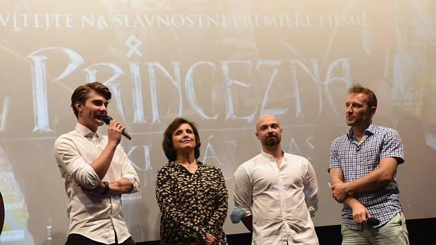Ze slavnostní premiéry filmové pohádky 'Princezna zakletá v čase' v Kině 99 v Kolíně.