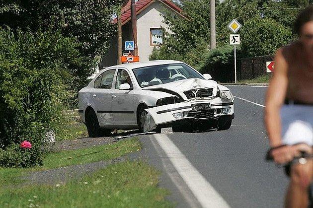 Autonehoda v obci Kbílek, 23.8.2009